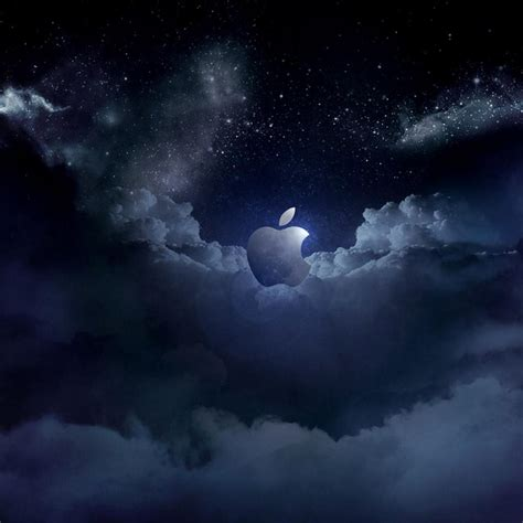 wallpaper for apple tablet cloudy apple logo tablet wallpapers and backgrounds