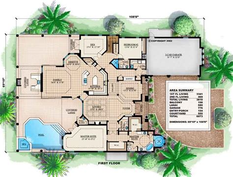 ponderosa 3810 3 bedrooms and 1 bath the house designers sunbelt style house plans 3810 square foot home 2