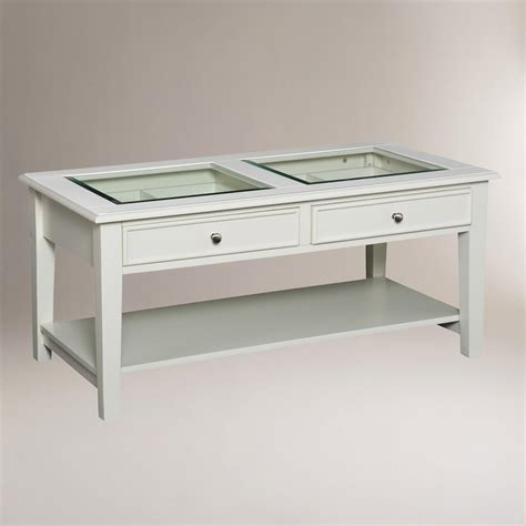Display Coffee Table White Display Coffee Table World Market