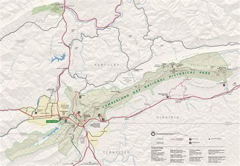 kentucky map cumberland gap cumberland gap national historical park maplets