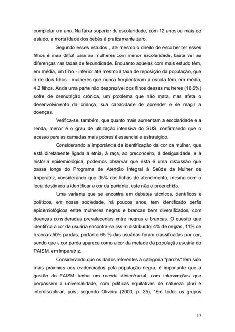 PROGRAMA DE ATENÇÃO INTEGRAL A SAÚDE DA MULHER – PAISM