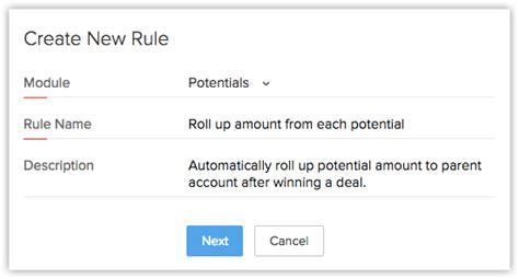 workflow rule custom functions help zoho crm
