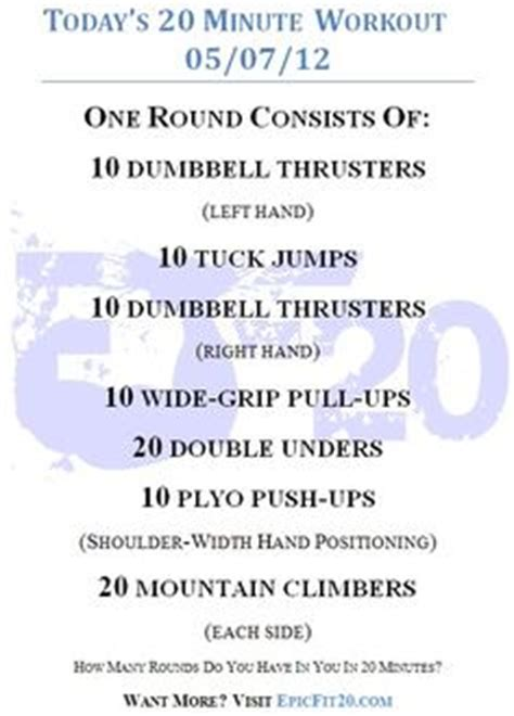 1000 images about daily 20 minute workouts on