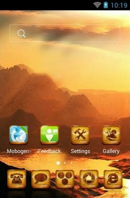 golden themes for android golden river android theme for clauncher androidlooks com