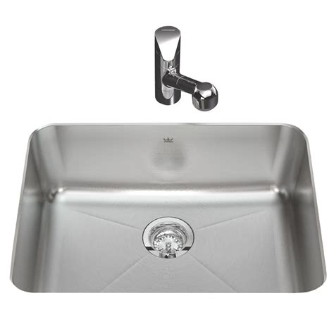 Lowes Undermount Kitchen Sinks Shop Kindred Silk Deck And Single Basin Undermount Kitchen Sink At Lowes