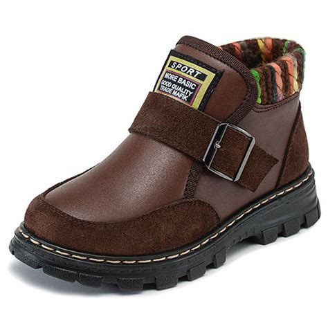 2016 winter boys leather ankle boots style