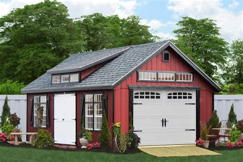 Garden Sheds And Garages by Premier One Car Garages From The Amish In Pa