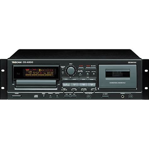 cassette cd player tascam cd a500 rackmount cd cassette player music123