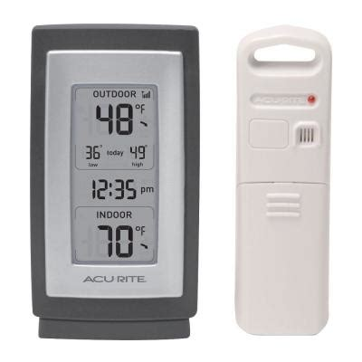 acurite backyard weather thermometer acurite wireless digital weather thermometer 00826hd the