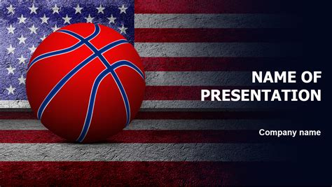 Download Free American Basketball Powerpoint Template For Presentation Basketball Powerpoint Template