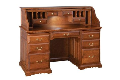 Roll Top Desk by Amish Deluxe Roll Top Desk