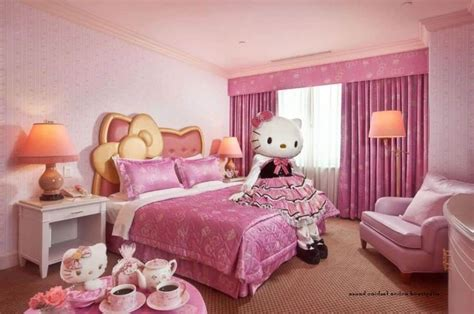 simple pink bedroom awesome pink bedroom in hello kitty theme for lovely girls