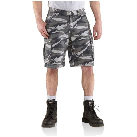 rugged shorts carhartt 174 rugged camo cargo shorts 587947 shorts at sportsman s guide