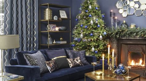 midnight blue living room 30 jolly living room d 233 cor ideas for the holidays