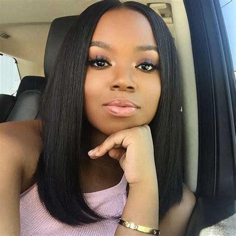 bobs with a closure lace cut 130 density 1 dyed jet black glueless bob wigs
