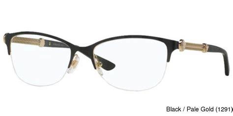 buy versace ve1228 semi rimless half frame prescription