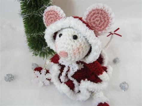 crochet pattern christmas mice crochet christmas mouse crochet stuffed mouse amigurumi