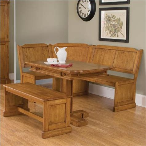 corner dining table and bench set home styles 5004 80038 americana corner bench and
