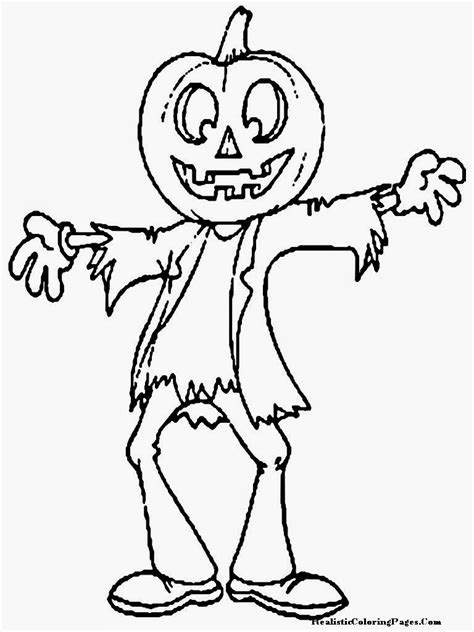 happy halloween printable coloring pages realistic