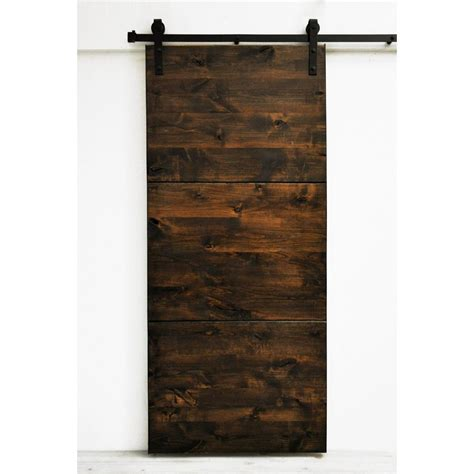 Modern Barn Doors Interior Shop Dogberry Collections Modern Slab Stained Solid 1 Panel Knotty Alder Barn Interior Door