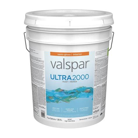 shop valspar ultra 2000 high hide white semi gloss interior paint actual net contents