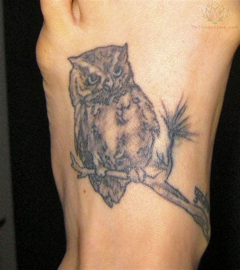 owl tattoo designs for foot 60 owl tattoos ideas for foot