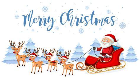 santa claus merry christmas template   vectors clipart graphics vector art