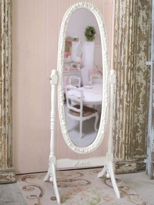 shabby cottage chic white french cheval rose mirror
