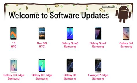 t mobile android update t mobile confirms which samsung and htc phones are getting the nougat update android authority