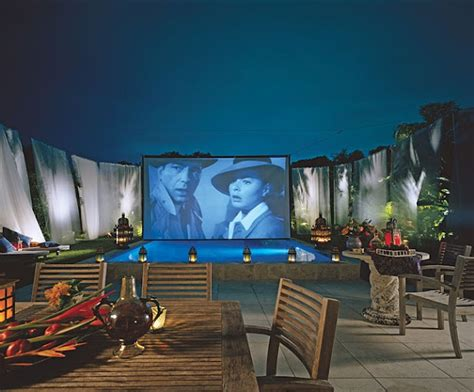 backyard home theater outdoor movie theater fabulous places spaces pinterest