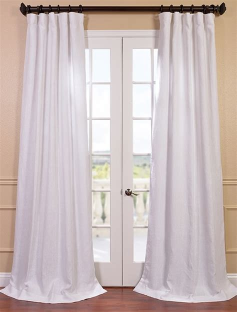 Blanc White French Linen Curtain   Contemporary   Curtains
