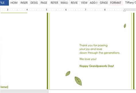 grandparents day template grandparent s day word template
