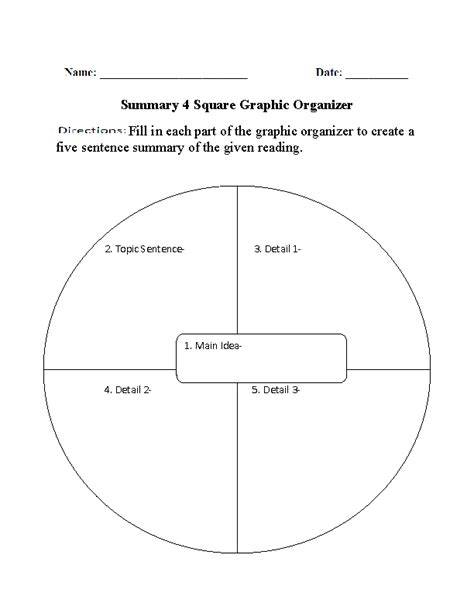 printable reading comprehension graphic organizers graphic organizers for reading comprehension summary 4