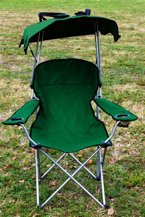 Outdoor Chairs With Canopy by 2 X Folding Canopy Chair Cing Chair Xl Outdoor C Chairs Green Ebay