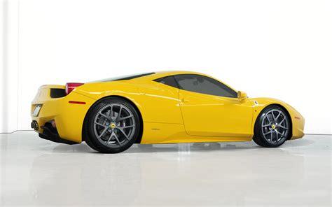 ferrari yellow 458 vorsteiner custom 458 italia based on ferrari 458 italia