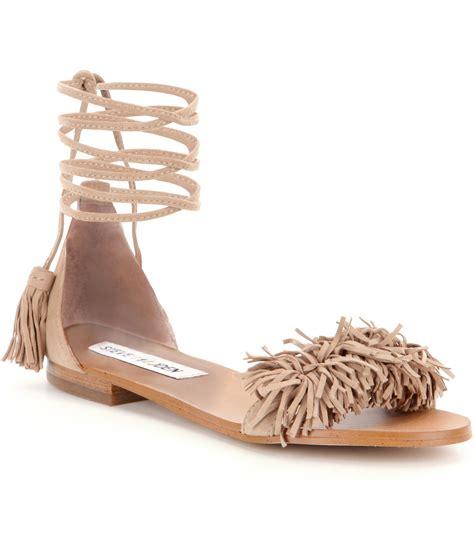 Fringe Sandals steve madden sweetyy lace up fringe sandals in