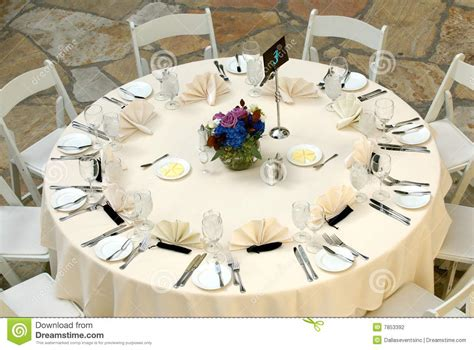 how to set wedding table luxurious table setting at a wedding reception stock