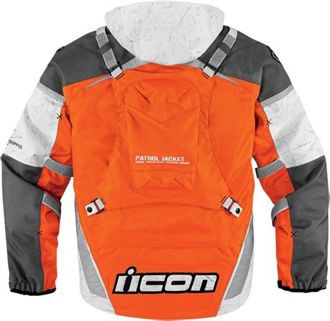 Sepatu Biker Orange Waterproof icon patrol raiden waterproof jacket orange