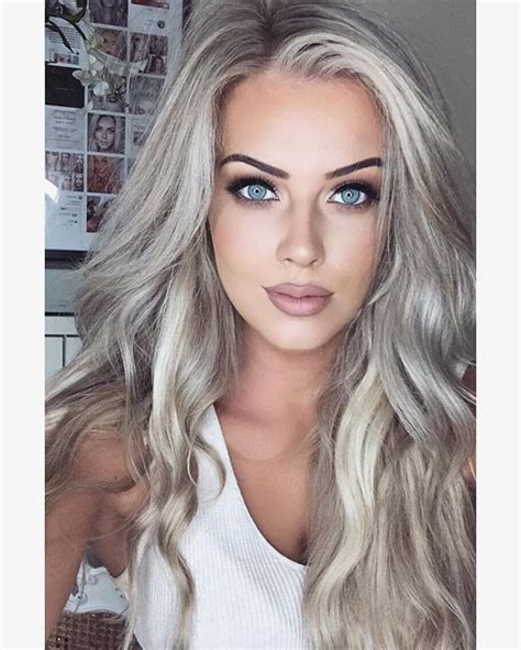 Silvery Blonde Hair Dye | 351 best images about gorgeous pale skin on pinterest