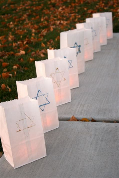 How To Make Paper Luminaries - hanukkah luminaries to light up the make and takes
