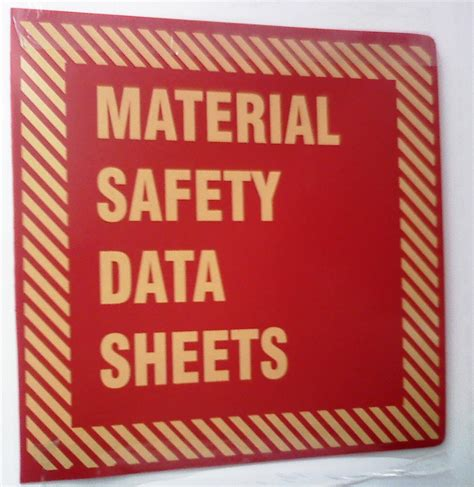 best material for sheets msds sign