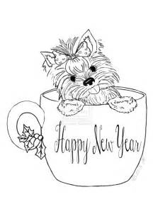 yorkie coloring pages fablesfromthefriends com