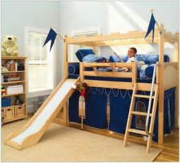 bunk bed with slide kid s camelot castle bunk bed