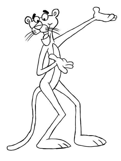 printable pink panther coloring pages coloring me