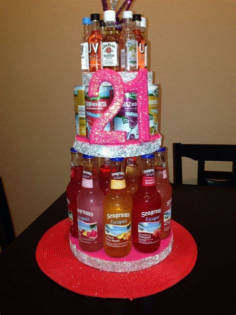 21st Alcohol Birthday cake   DIY   21st birthday gifts
