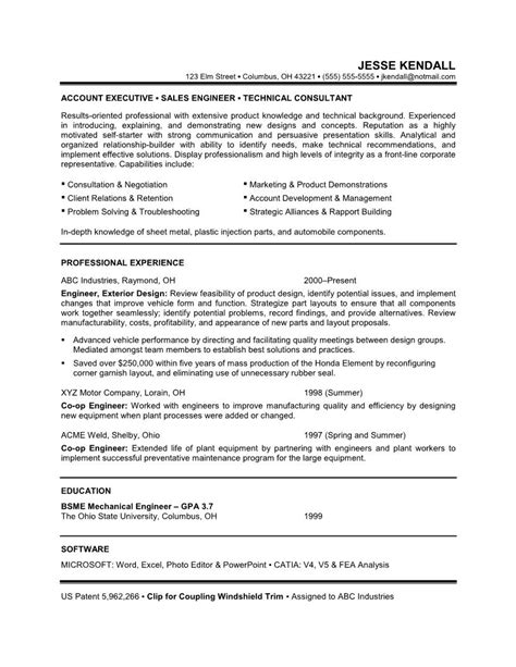 engineering career objective exles career objective on resume template learnhowtoloseweight net