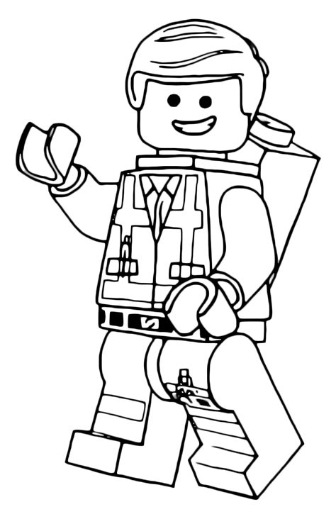 lego movie coloring pages benny quot the lego movie quot coloring pages