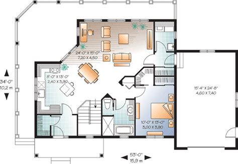 vacation cottage floor plans beautiful open floor plan 22312dr 1st floor master