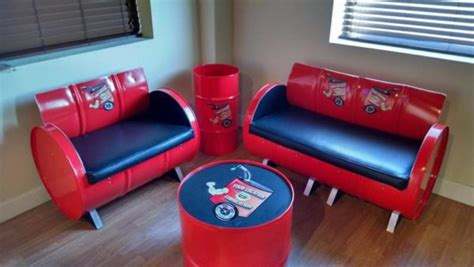 gallon steel drums upcycled  furniture recyclart