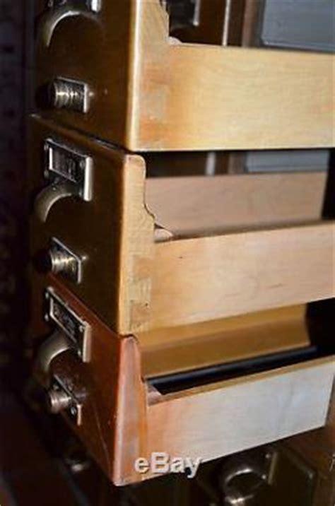 Vintage 15 Drawer Wood Index Library Card Catalog Cabinet
